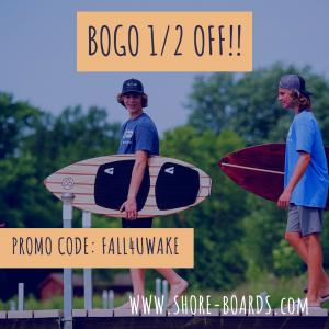 BOGO 50% Off Custom Wood Wakesurf Boards
